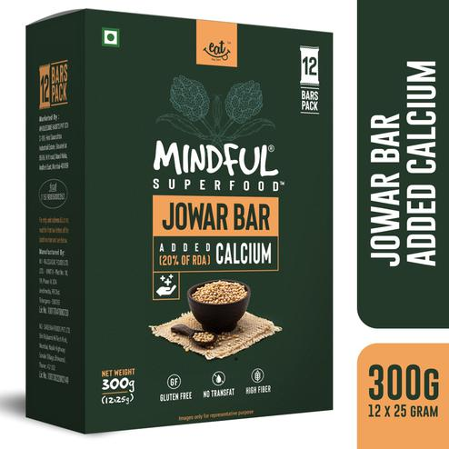 EAT Anytime Mindful Jowar Millet Granola Bars Loaded with Calcium-300 gms(12 x 25g)