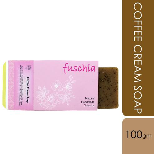 Fuschia-Coffee Cream Natural Handmade Herbal Soap