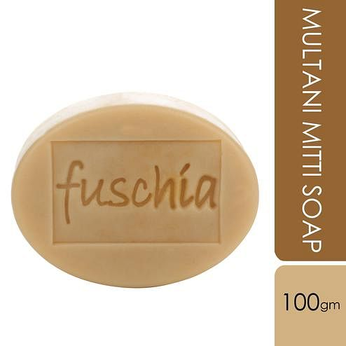 Fuschia-Multani Mitti Natural Handmade Herbal Soap