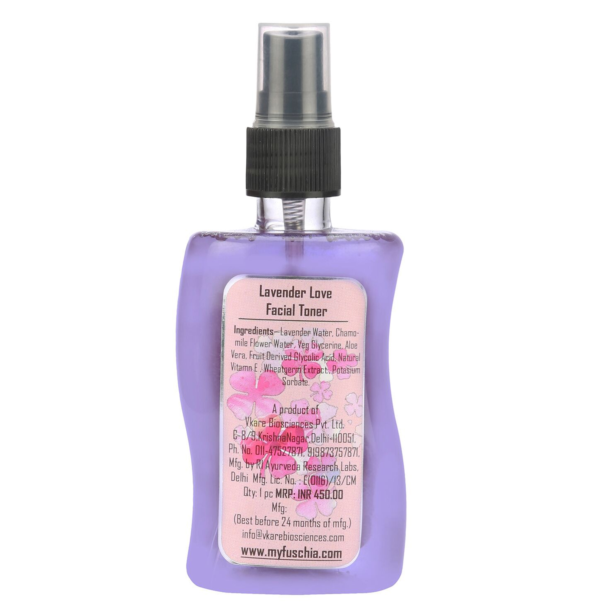 Fuschia Hydrating Facial Toner - Lavender - 100ml