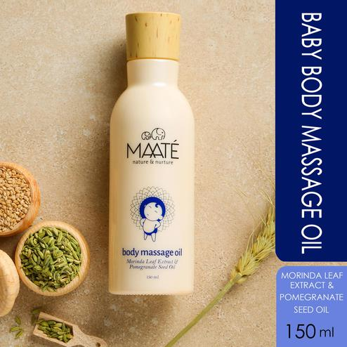 MAATÉ Baby Body Massage Oil-Enhances Bone Mineralisation And Strength-150 ML