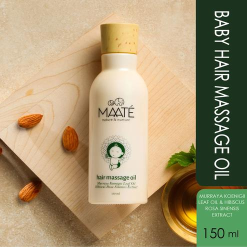MAATÉ Baby Hair Massage Oil-Healthy Hair Growth And Scalp Conditioning-150 ML