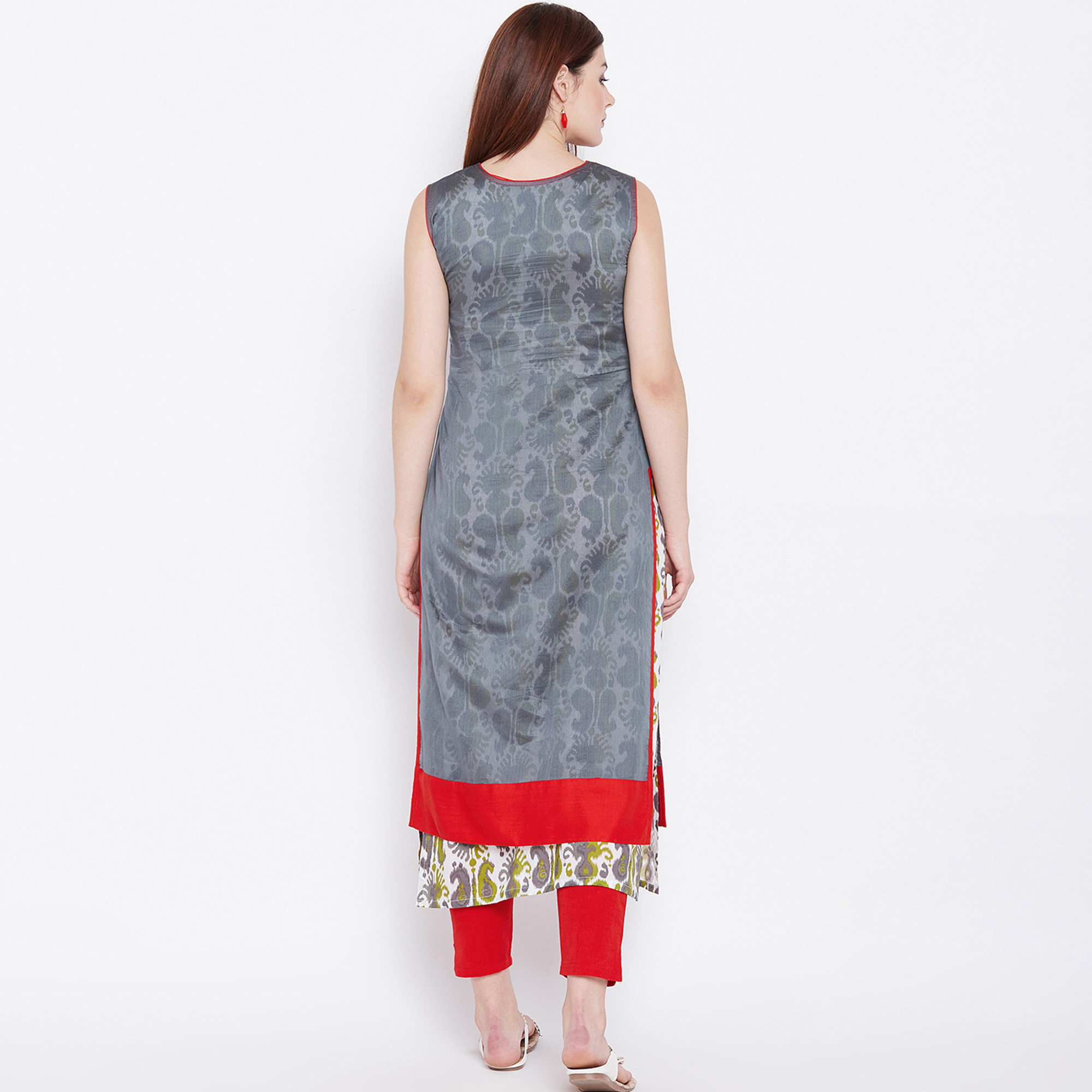 Elegant Multi Colored Casual Wear Printed Cotton Long Kurti