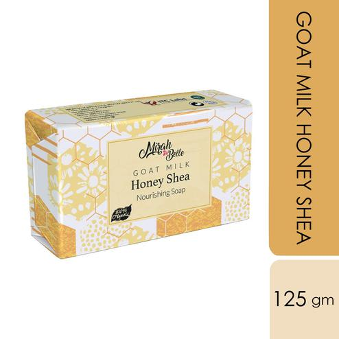 Mirah Belle Goat Milk-Honey-Shea Unscented Nourishing Soap - 125Gm