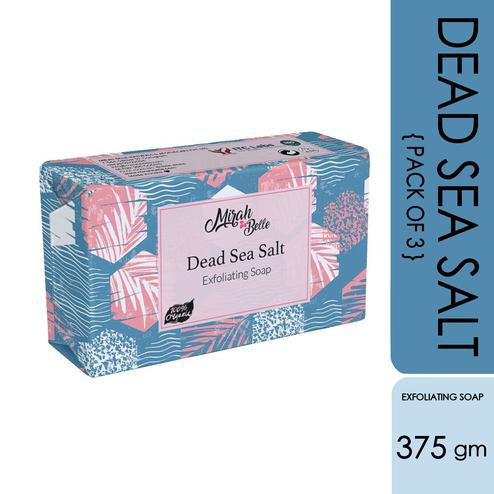Mirah Belle Dead Sea Salt Exfoliating Soap - Pack Of 3 - 375Gm