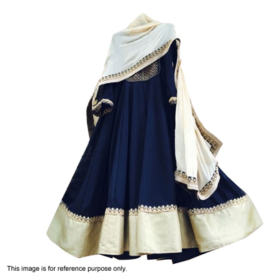 Navy Blue Georgette Anarkali with Dupatta