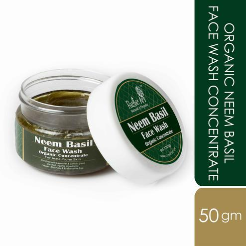 Rustic Art Organic Neem Basil Face Wash Concentrate - 50g