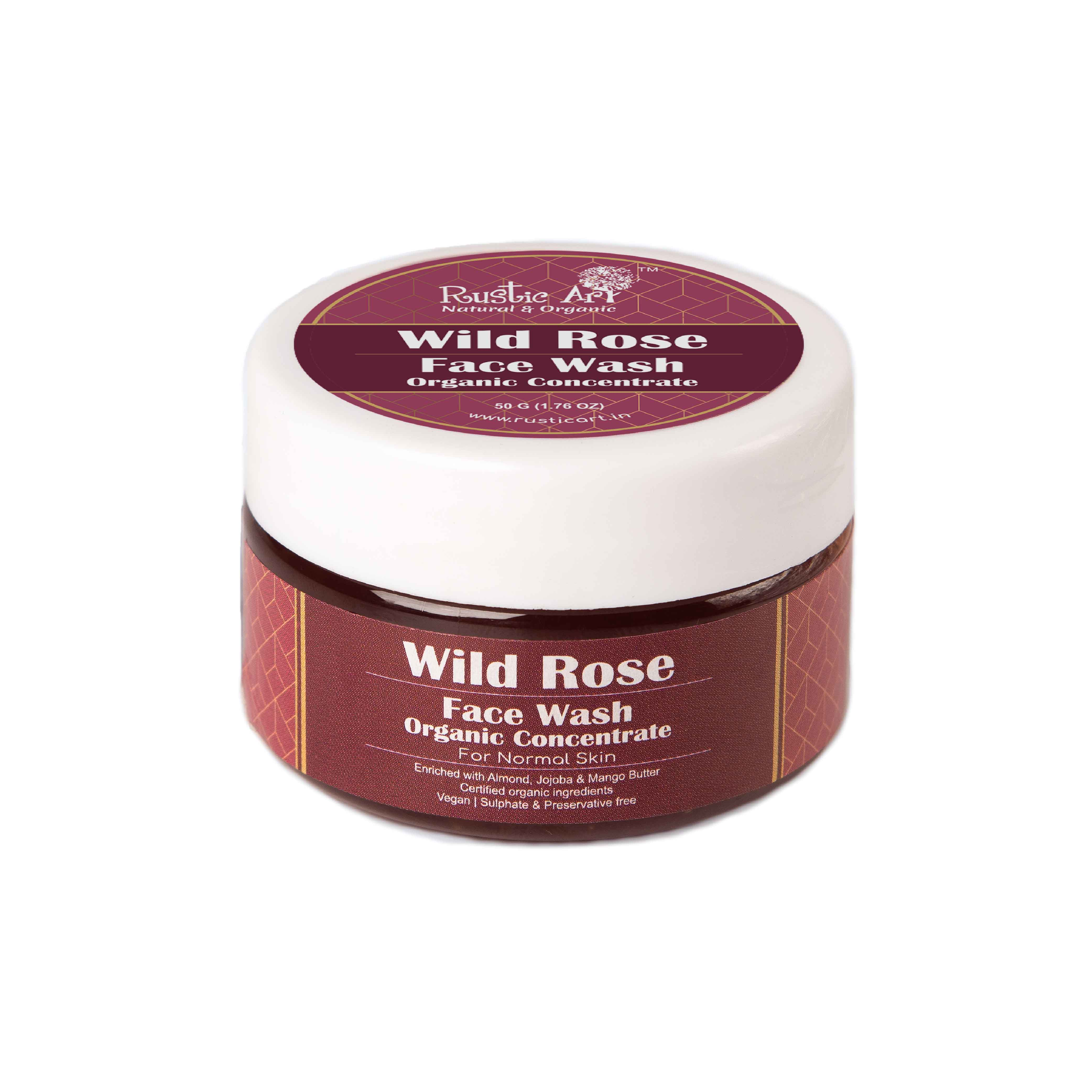 Rustic Art Organic Wild Rose Face Wash Concentrate - 50g