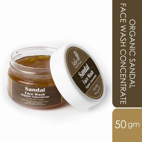 Rustic Art Organic Sandal Face Wash Concentrate - 50g