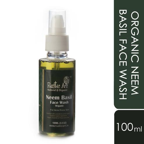 Rustic Art Organic Neem Basil Face Wash - 100ml