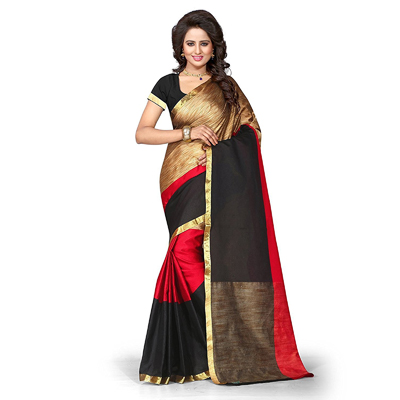 Multi Color Cotton Silk Saree