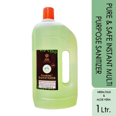 Khadi Essentials Basics Pure-Safe Instant Multi Purpose Sanitizer - 1L