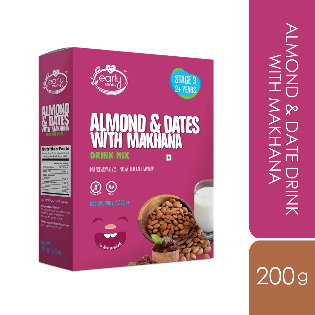 Early Foods - Almond & Date Drink with Makhana 200g