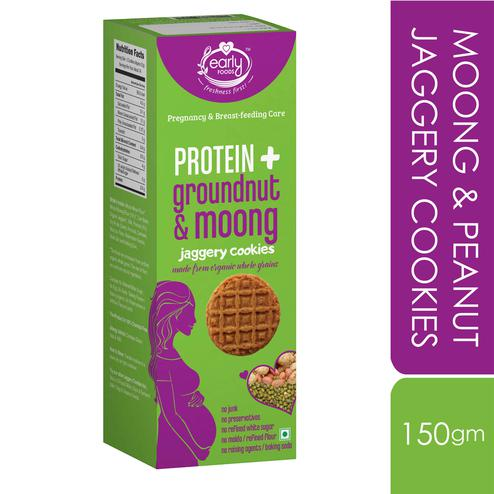 Early Foods - Moong & Peanut Jaggery Cookies 150g