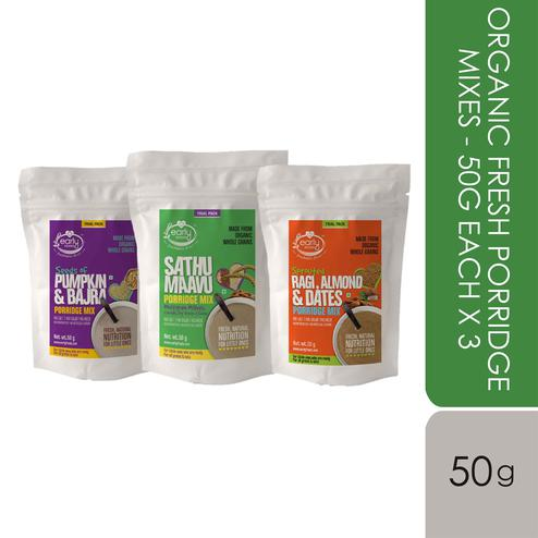 Early Foods - Stage 2 Trial Pack - Combo - Organic Fresh Porridge Mixes - 50g each X 3