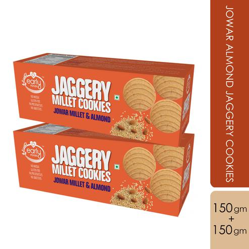 Early Foods - Pack of 2 - Jowar Almond Jaggery Cookies 150g X 2