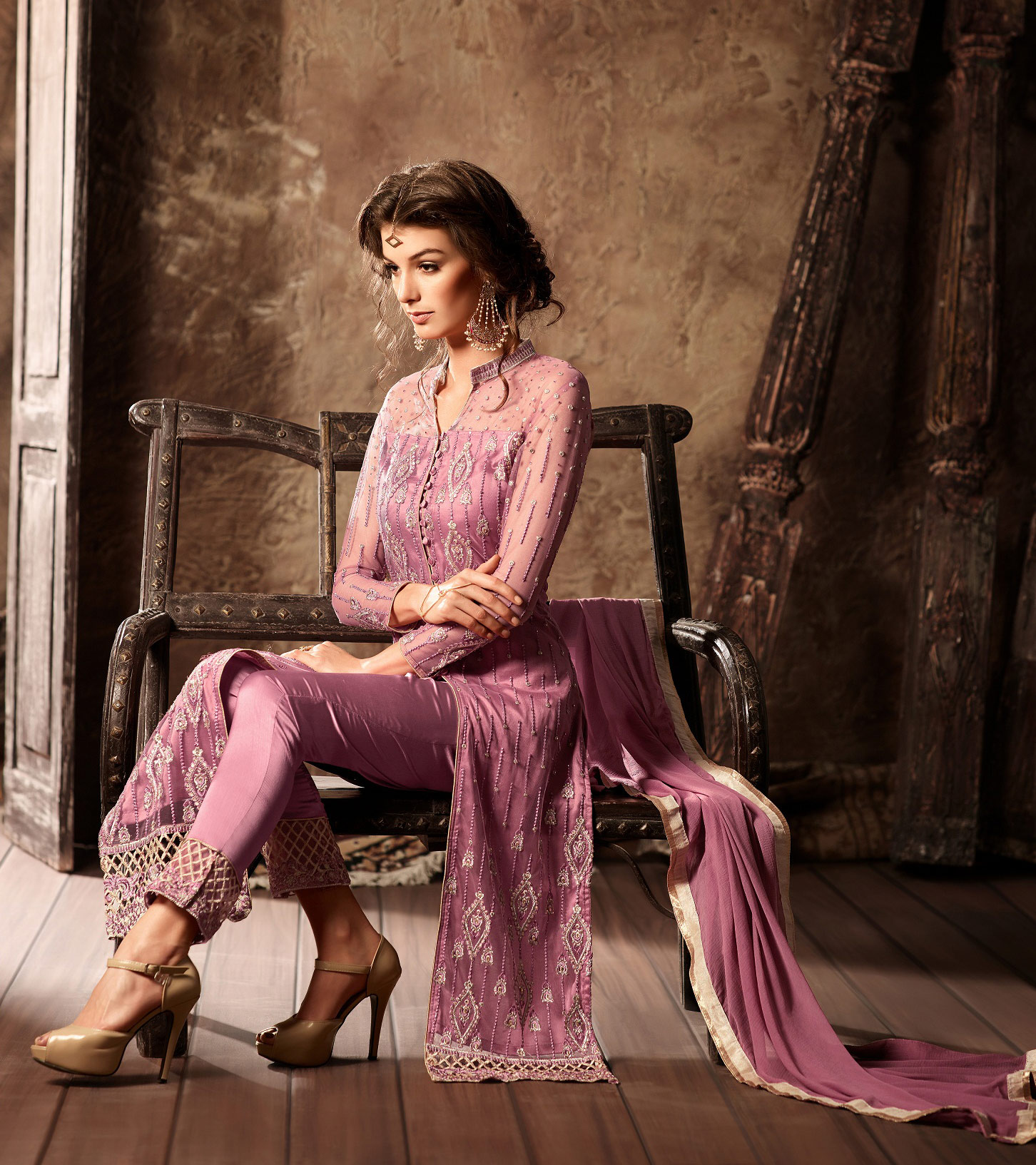 Pink Pant Style Designer Suit