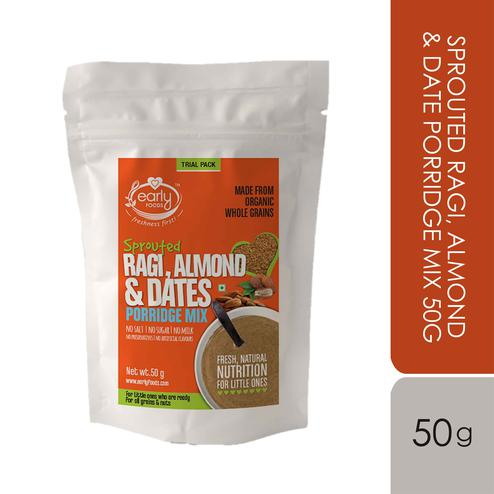 Early Foods - Trial Pack - Sprouted Ragi, Almond & Date Porridge Mix 50g