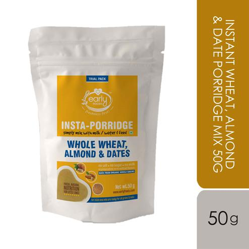 Early Foods - Trial Pack - Instant Wheat, Almond & Date Porridge Mix 50g