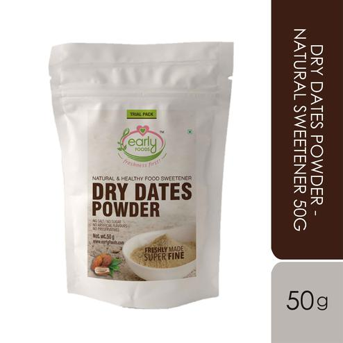 Early Foods - Trial Pack - Dry Dates Powder - Natural Sweetener 50g