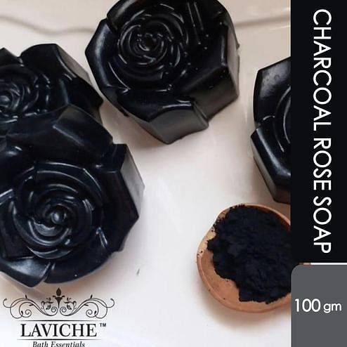 Laviche - Charcoal Rose Soap - 100Gms