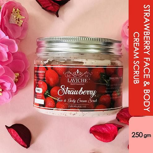 Laviche - Strawberry Face and Body Cream Scrub - 250Gms