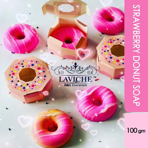 Laviche - Strawberry Donut Soap - 100Gms