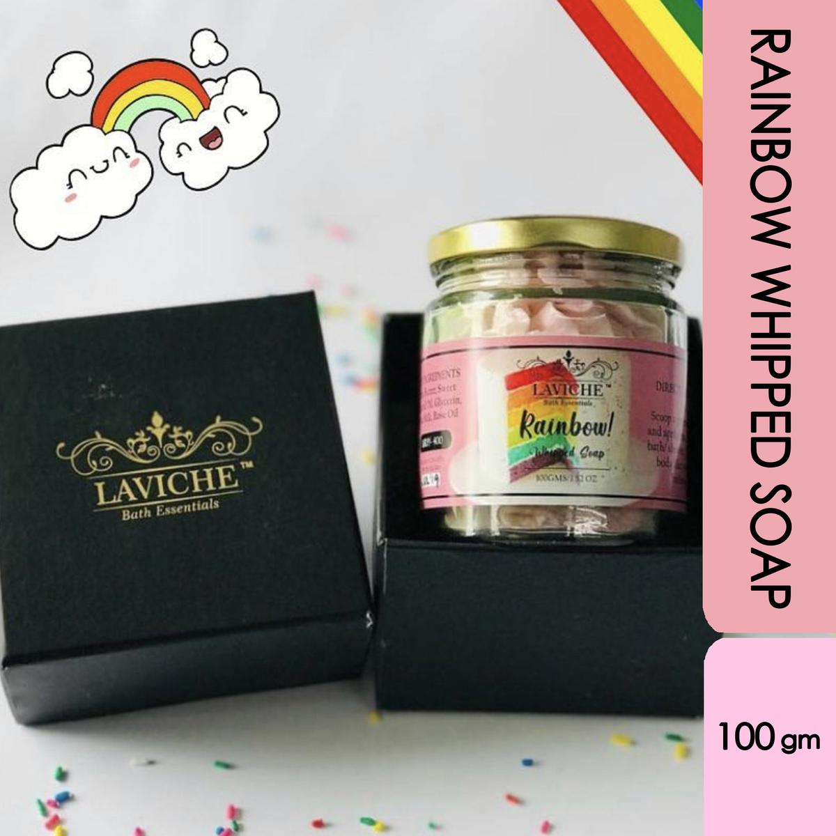 Laviche - Rainbow Whipped Soap - 100Gms