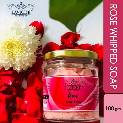 Laviche - Rose Whipped Soap - 100Gms