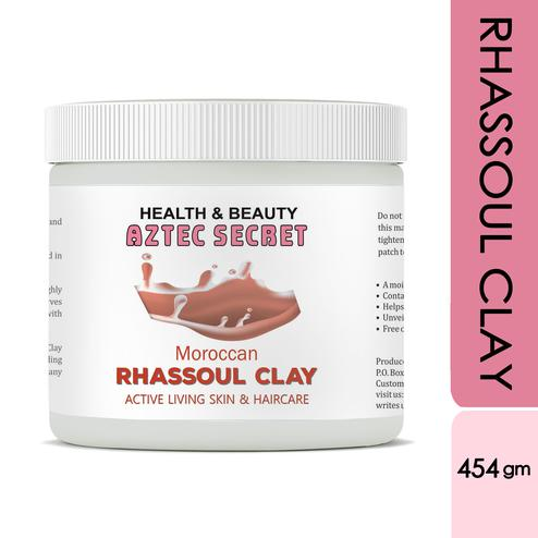 Aztec Secret -Moroccan Rhassoul Clay- 1 lb| Deep Skin & Hair Cleansing Facial & Hair & Body Mask - 454gm
