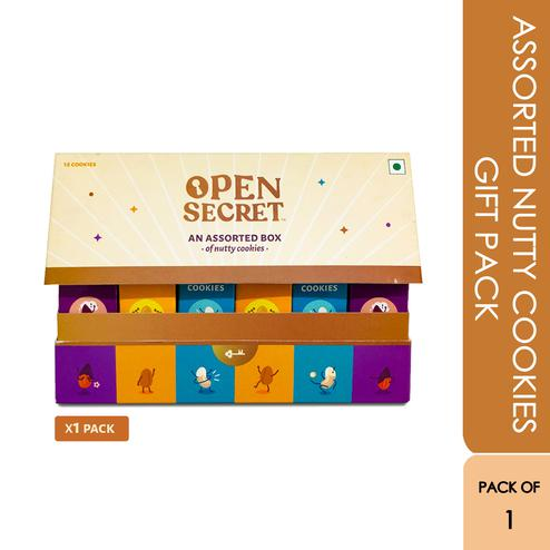 Open Secret Nutty Cookies Assorted Gift Pack - 1 Gift Pack (150g)