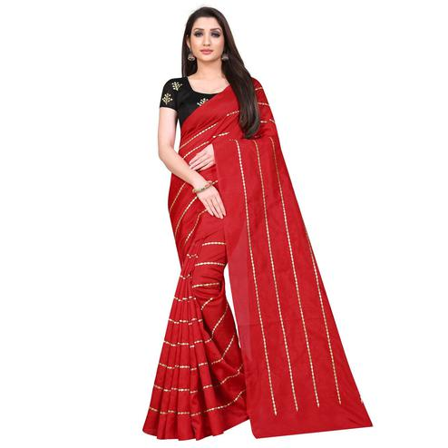 Charming Red Colored Partywear Zoya Art Silk Saree
