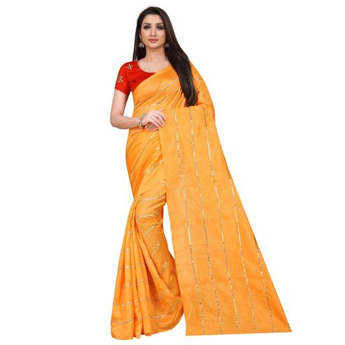Jazzy Yellow Colored Partywear Zoya Art Silk Saree