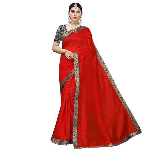 Arresting Red-Blue Colored Festive Wear Zoya Art Silk Saree