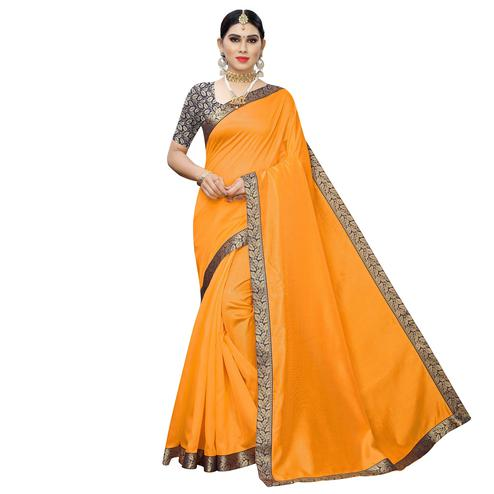 Desirable Yellow Colored Festive Wear Zoya Art Silk Saree