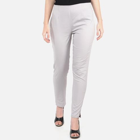 Staring Grey Colored Casual Wear Cotton Lycra Stretchable Trousers