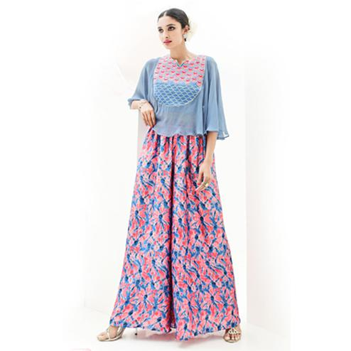 Multicolored Indo Western Dress