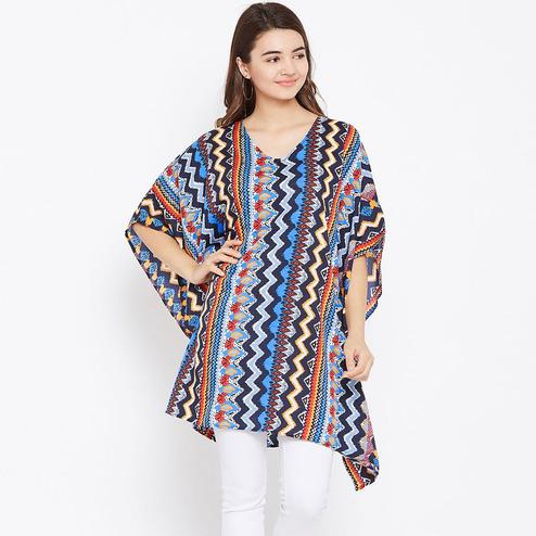 Entrancing Multicolor Casual Wear Geomatric Printed Crepe Tunic
