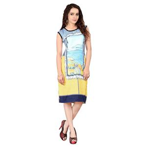 Multi Color Digital Print Kurti