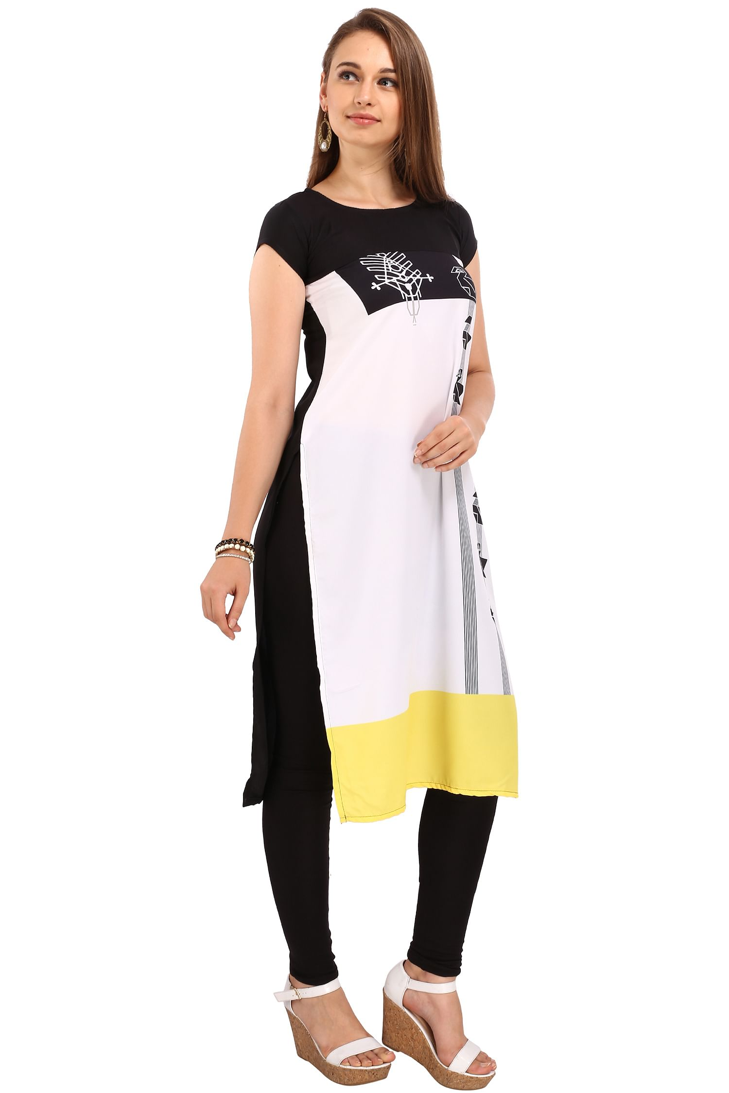 Multi Color Printed Stitched Kurti