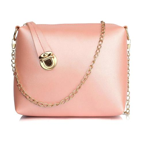 TMN Pink-Golden Sling Bag