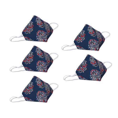 Saree Mall - Washable Cotton Face Cover - Pack Of 5
