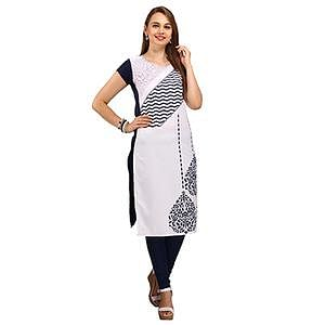 White Casual Wear Printed Kurti