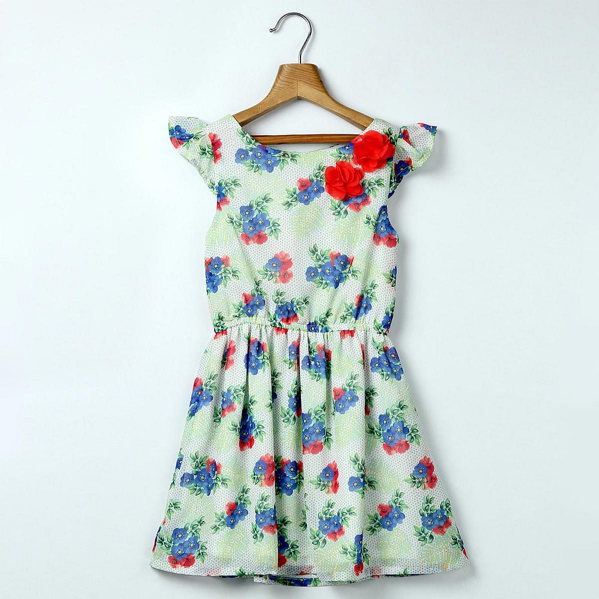 Beebay Tropical Floral Print Dress For Kids