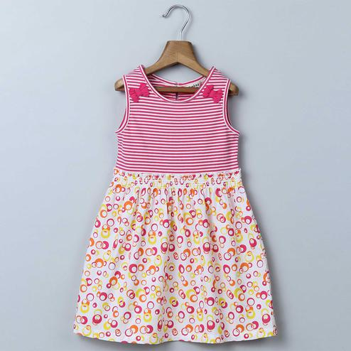 Beebay Stripe & Circle Print Dress For Infants