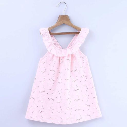 Beebay Eyelet Emb Dress With Back Bow For Kids
