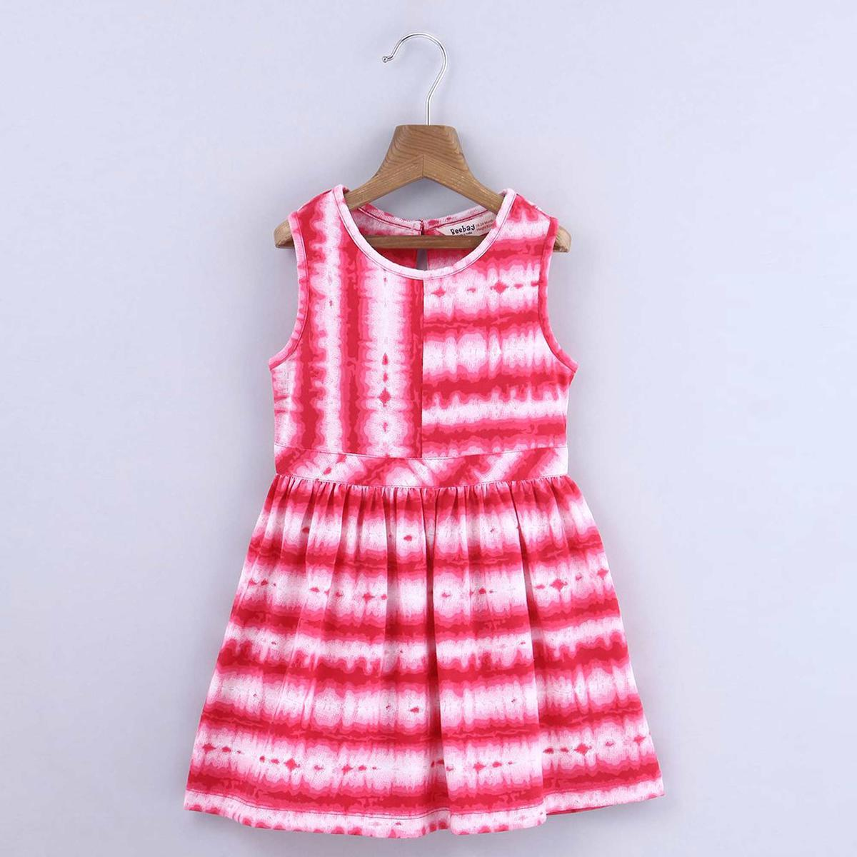 Beebay Pink Tie And Dye Dress For Infants