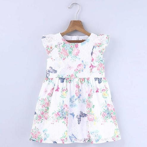 Beebay Floral Print Lace Dress For Kids