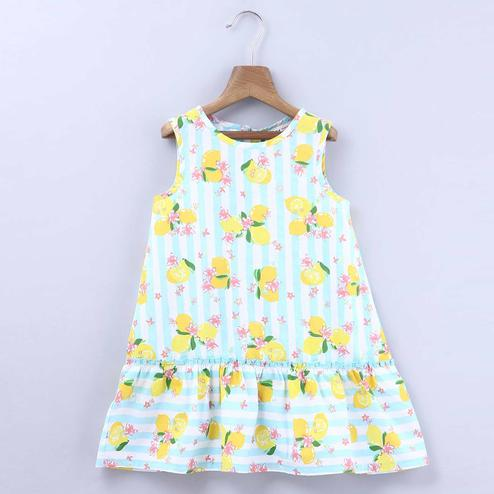 Beebay Lemon Striper Print Dress For Infants