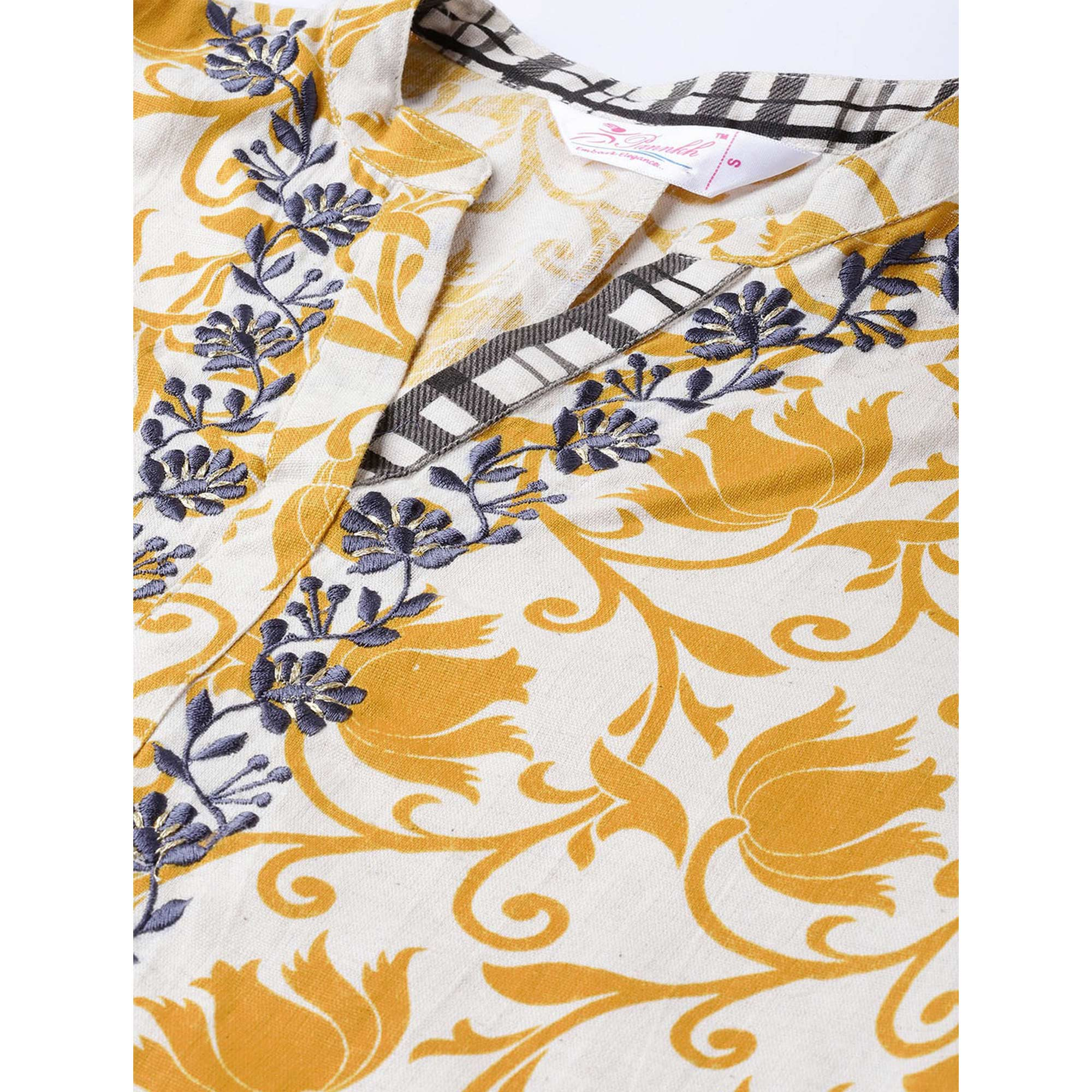Lovely Yellow Colored Casual Wear Floral Printed Cotton Kurti-Palazzo Set